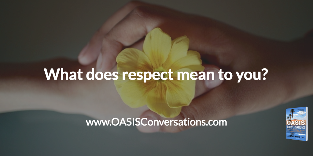 We All Want to be Respected